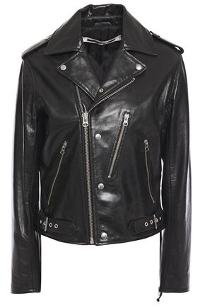 McQ Alexander McQueen Pebbled-leather biker jacket