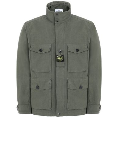 STONE ISLAND 41921 COTTON / CORDURA® Jacket Man Olive Green USD 505