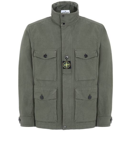 STONE ISLAND 41921 COTTON / CORDURA® Jacket Man Olive Green