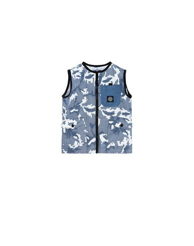 STONE ISLAND KIDS G0237 CAMOUFLAGE  Vest Man Blue EUR 291