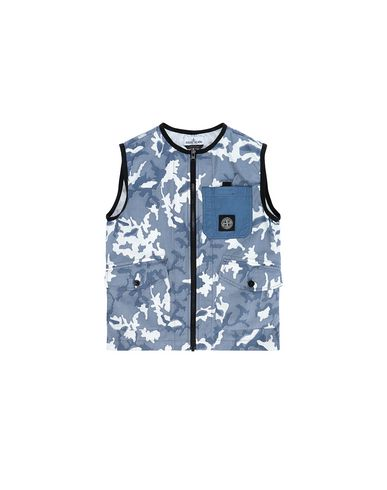 STONE ISLAND JUNIOR G0237 CAMOUFLAGE  Vest Man Blue USD 212