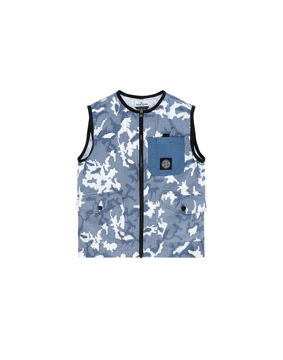 STONE ISLAND JUNIOR G0237 CAMOUFLAGE  Vest Man Blue