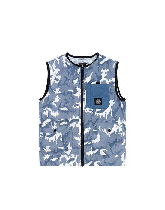 Vest Man G0237 CAMOUFLAGE  Front STONE ISLAND TEEN