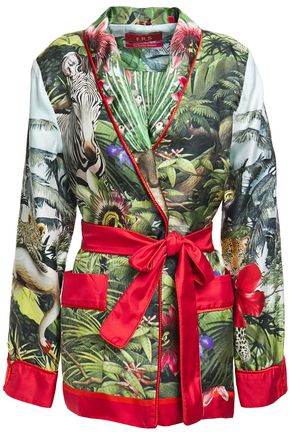F.R.S. FOR RESTLESS SLEEPERS Armonia satin-trimmed printed silk-twill jacket