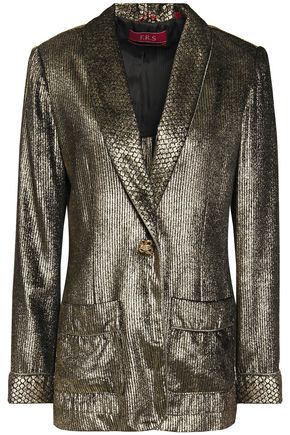 F.R.S. FOR RESTLESS SLEEPERS Kakia metallic fil coupé blazer