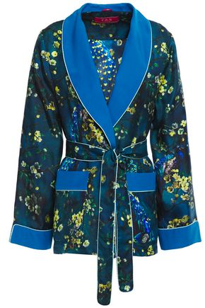 F.R.S. FOR RESTLESS SLEEPERS Armonia belted printed silk-twill jacket