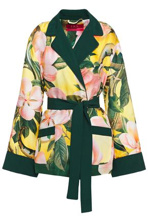 F.R.S. FOR RESTLESS SLEEPERS Giocasta satin-trimmed floral-print silk-twill jacket