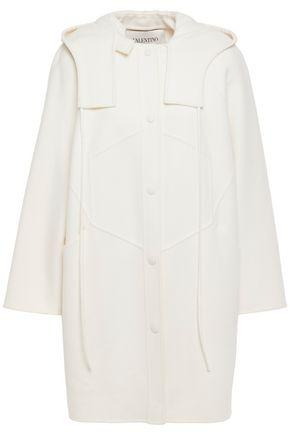 VALENTINO Wool and cashmere-blend hooded coat