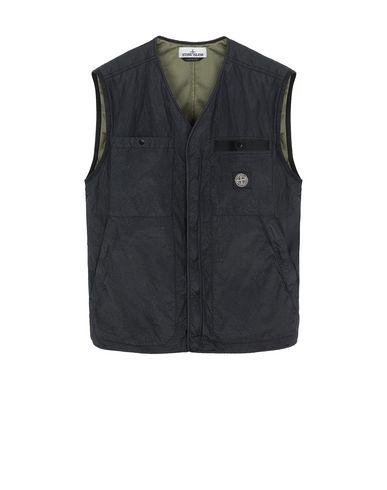STONE ISLAND G0229 S.I.PA/PL SEERSUCKER-TC  Vest Man Black USD 358
