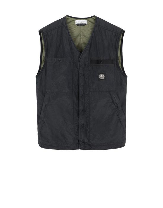 STONE ISLAND G0229 S.I.PA/PL SEERSUCKER-TC  Vest Man Black