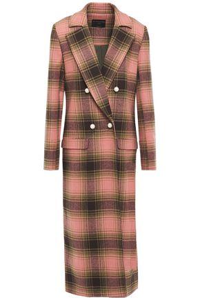 MOTHER OF PEARL Mable double-breasted checked wool coat
