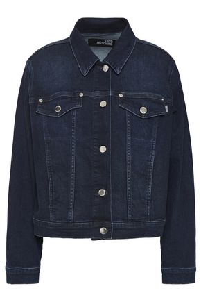 LOVE MOSCHINO Crystal-embellished denim jacket
