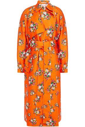 """EMILIA WICKSTEAD معطف واقٍ من المطر """"إيف"""" من قماش كلوكيه المطبع بالورود"""