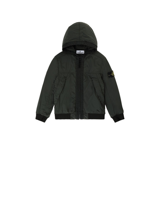 STONE ISLAND JUNIOR 41031 COMFORT TECH COMPOSITE  休闲夹克 男士 瓶绿色