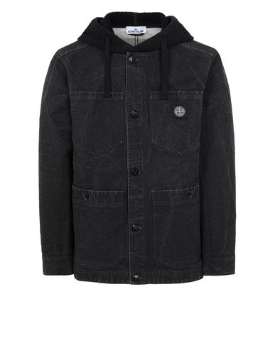 STONE ISLAND 428J1 PANAMA PLACCATO Jacket Man Black USD 565