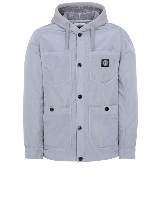 STONE ISLAND 428J2 NYLON TELA-TC Jacket Man Dust Gray