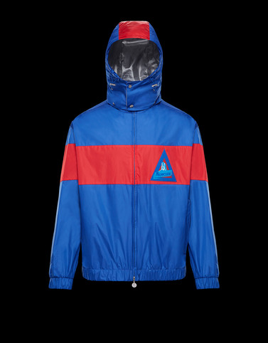 SLACK Blue Windbreakers Man