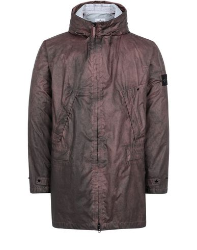 STONE ISLAND 70124 MEMBRANA 3L WITH DUST COLOUR FINISH Mid-length jacket Man MAHOGANY BROWN EUR 492