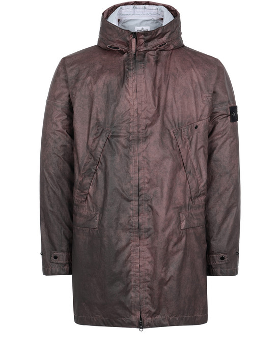 STONE ISLAND 70124 MEMBRANA 3L WITH DUST COLOUR FINISH Mid-length jacket Man MAHOGANY BROWN