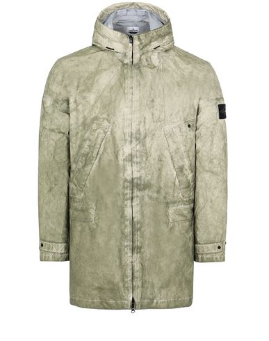 STONE ISLAND 70124 MEMBRANA 3L WITH DUST COLOUR FINISH Mid-length jacket Man Beige USD 757