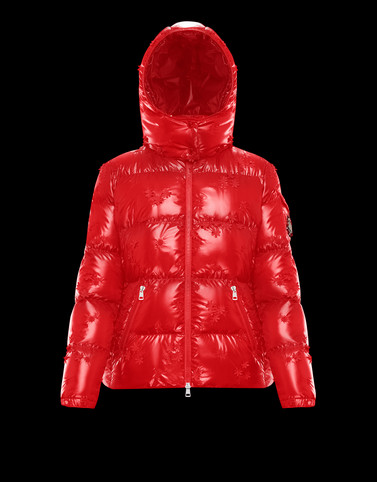 CALLITRIS Red Short Down Jackets Woman