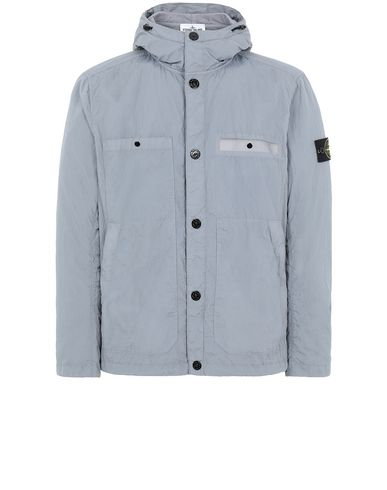 STONE ISLAND 45329 S.I.PA/PL SEERSUCKER-TC Jacket Man Dust Gray USD 428