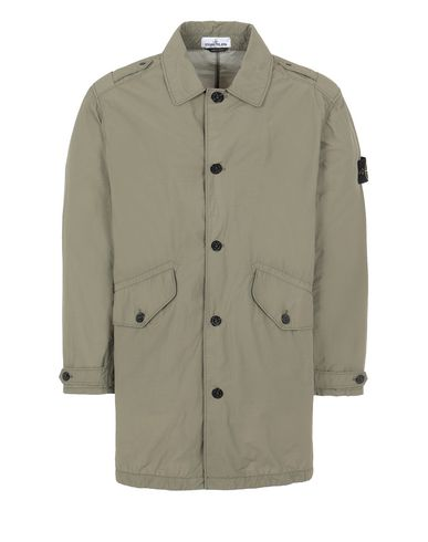 STONE ISLAND 70832 NASLAN LIGHT WATRO Mid-length jacket Man Olive Green EUR 373