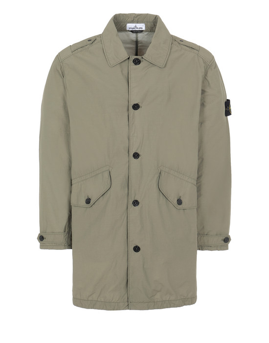 STONE ISLAND 70832 NASLAN LIGHT WATRO Mid-length jacket Man Olive Green