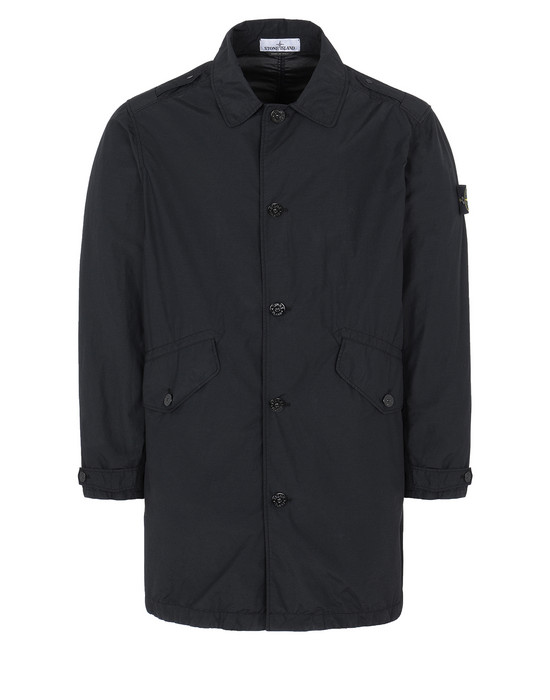 STONE ISLAND 70832 NASLAN LIGHT WATRO Mid-length jacket Man Black