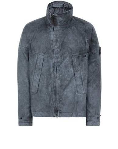 STONE ISLAND 41524 MEMBRANA 3L WITH DUST COLOUR FINISH Blouson Homme Noir EUR 794
