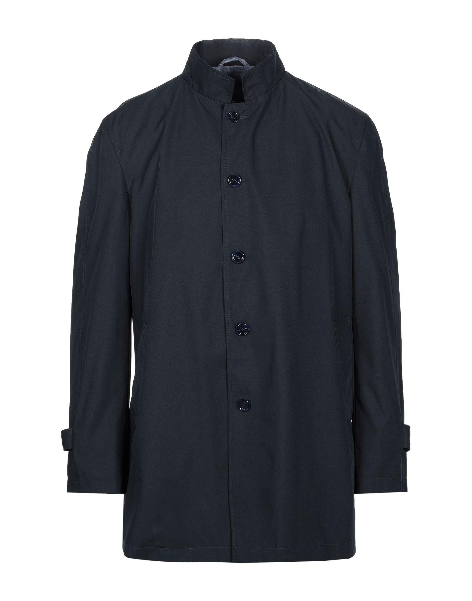 《セール開催中》FABIO BALDAN メンズ ライトコート ダークブルー 56 ポリエステル 100%