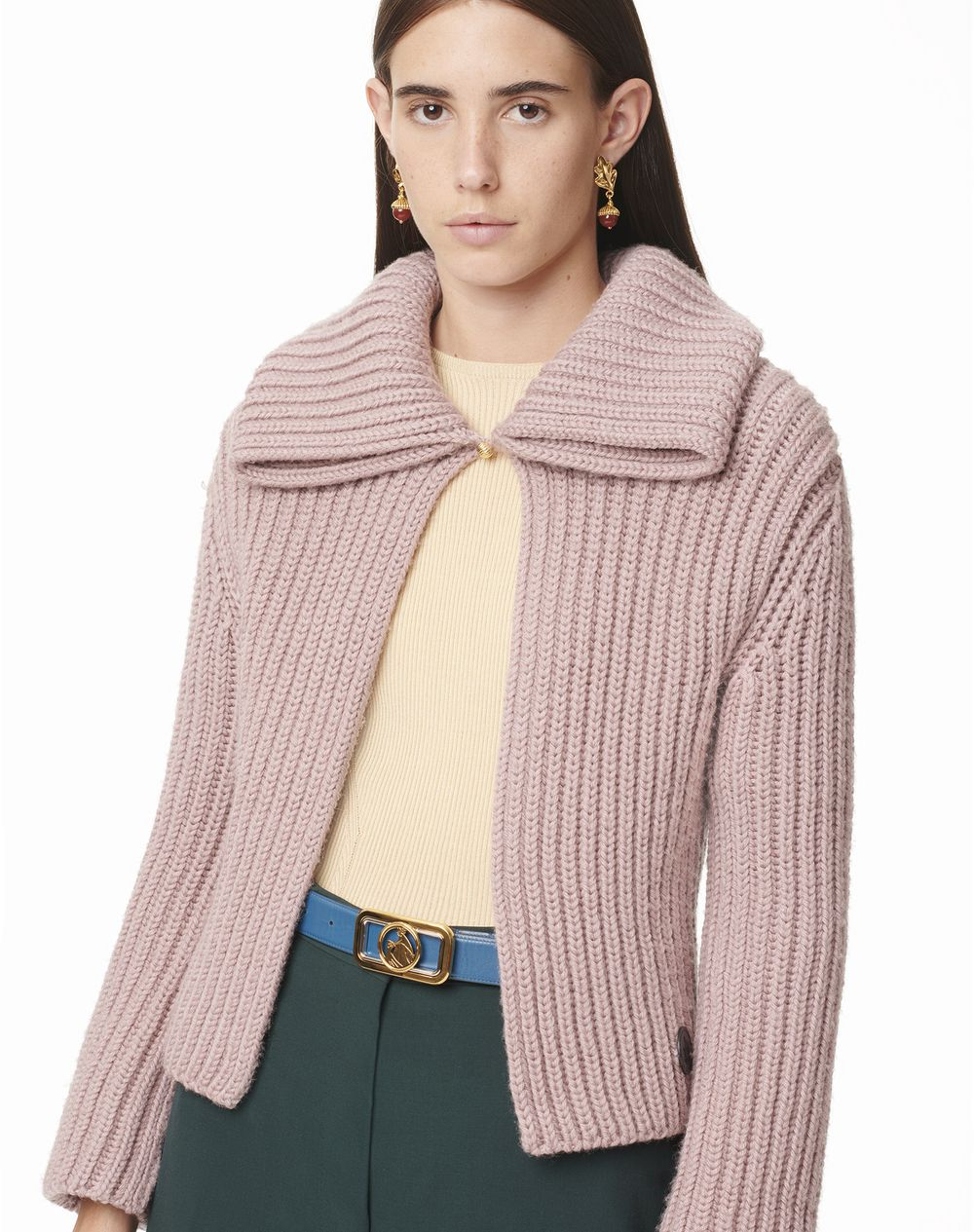 CROPPED COLLARED CARDIGAN - Lanvin