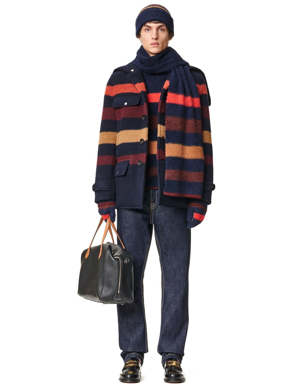 STRIPED PEACOAT - Lanvin