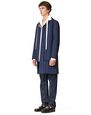 LANVIN Outerwear Man RVERSIBLE QUILTED CARCOAT f