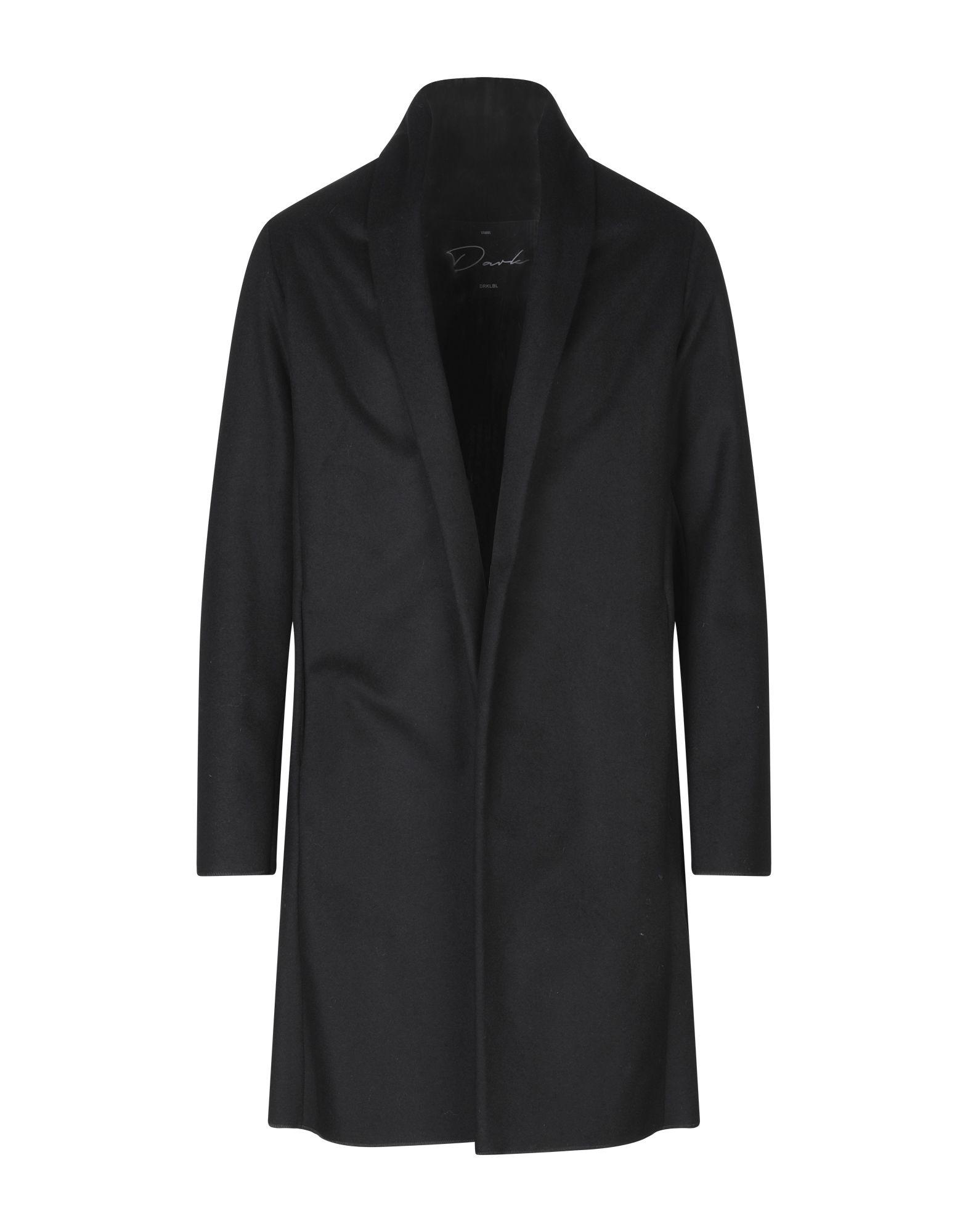 《セール開催中》DARK LABEL メンズ コート ブラック 48 ウール 70% / ナイロン 30%