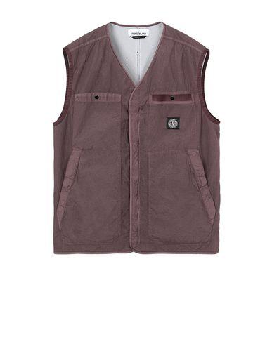 STONE ISLAND G0229 S.I. PA/PL SEERSUCKER-TC Vest Man MAHOGANY BROWN USD 279