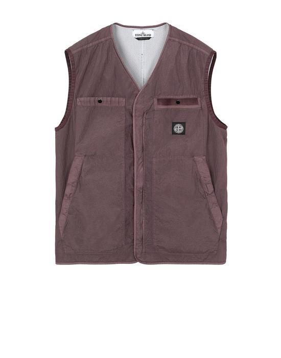 STONE ISLAND G0229 S.I. PA/PL SEERSUCKER-TC Vest Man MAHOGANY BROWN