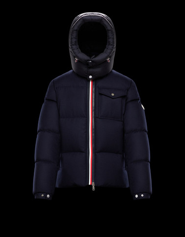 BRAZEAU Dark blue Down Jackets Man