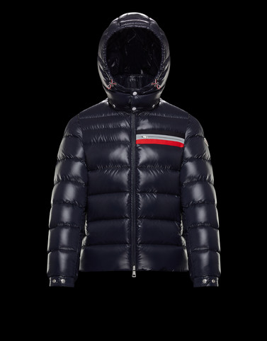 MOUNIER Dark blue Down Jackets Man