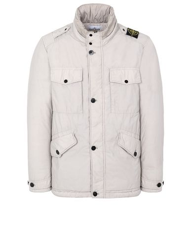 STONE ISLAND 43532 NASLAN LIGHT WATRO WITH PRIMALOFT®-TC Куртка средней длины Для Мужчин Голубиный серый RUB 66708