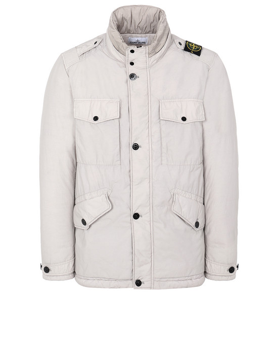 STONE ISLAND 43532 NASLAN LIGHT WATRO WITH PRIMALOFT®-TC 厚夹克 男士 鸽灰色