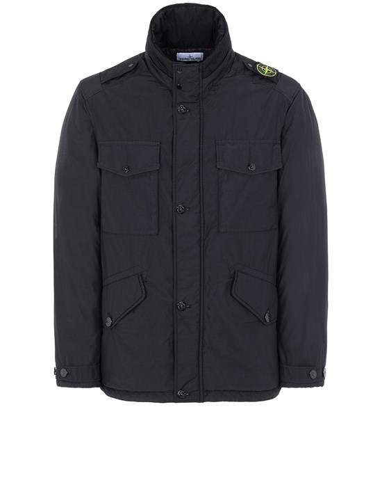 STONE ISLAND 43532 NASLAN LIGHT WATRO WITH PRIMALOFT®-TC Mid-length jacket Man Black