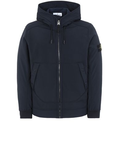 STONE ISLAND Q0122 SOFT SHELL-R LIGHTWEIGHT JACKET Man Blue EUR 368