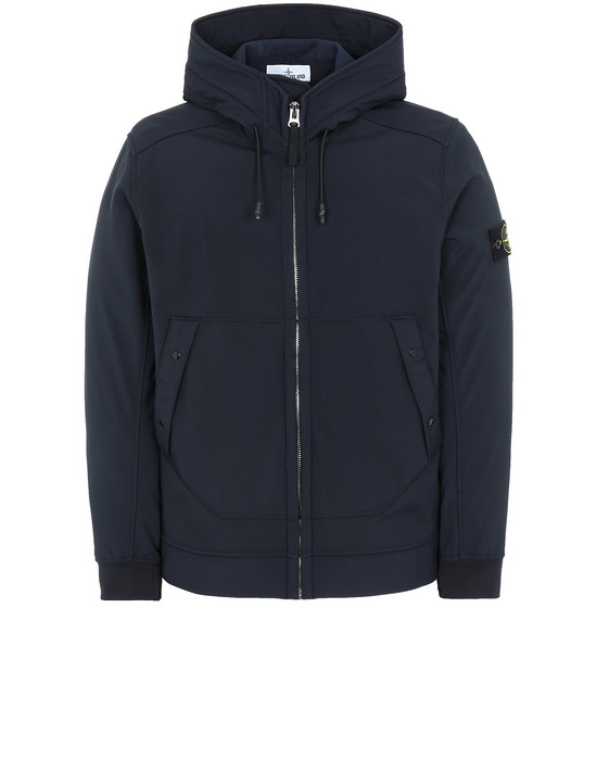 STONE ISLAND Q0122 SOFT SHELL-R LIGHTWEIGHT JACKET Man Blue