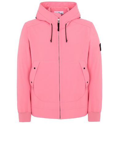 STONE ISLAND Q0122 SOFT SHELL-R LIGHTWEIGHT JACKET Man Cyclamen USD 453