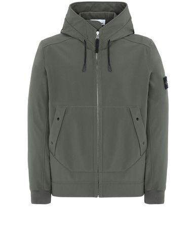 STONE ISLAND Q0122 SOFT SHELL-R LIGHTWEIGHT JACKET Man Musk Green EUR 340