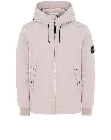STONE ISLAND Q0122 SOFT SHELL-R LIGHTWEIGHT JACKET Man Dove Grey EUR 485