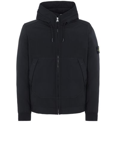 STONE ISLAND Q0122 SOFT SHELL-R LIGHTWEIGHT JACKET Man Black USD 438