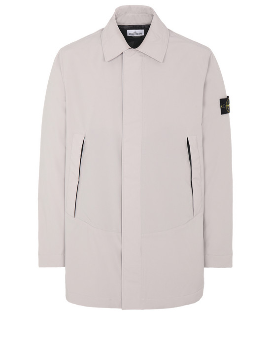 STONE ISLAND 41727 SOFT SHELL-R WITH PRIMALOFT® INSULATION Mid-length jacket Man Dove Grey