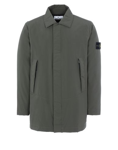 STONE ISLAND 41727 SOFT SHELL-R WITH PRIMALOFT® INSULATION Mid-length jacket Man Musk Green EUR 475